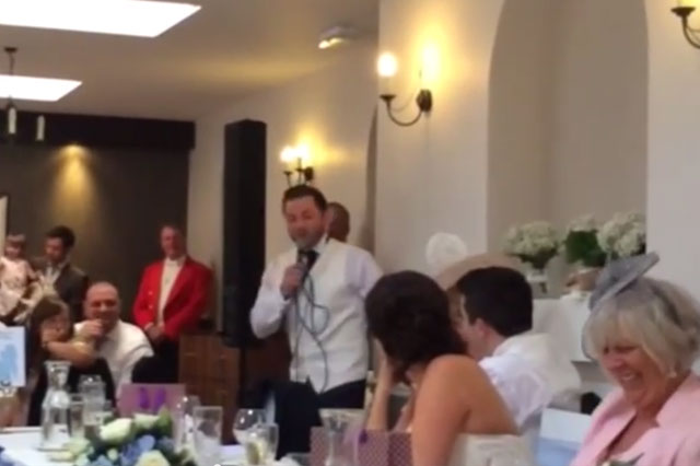 Frozen: Best man sings his speech to Let it Go from Disney movie