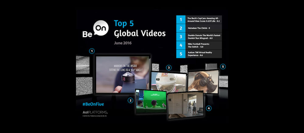 Be On Global Top 5 for June 2016