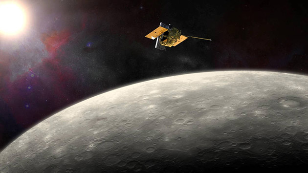 NASA's Messenger probe will crash into Mercury at 3:30pm ET today