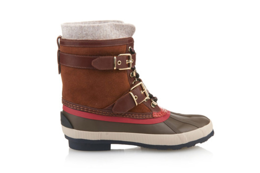 Burberry London Rubber Shearling Lined Climbing Boots