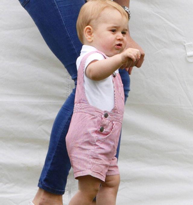 Prince George walking