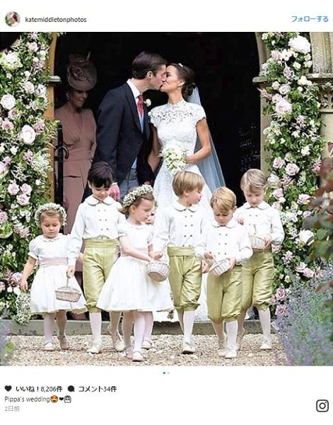 ピッパ・ミドルトンさんの結婚式で皆の視線を集めたのは、とってもキュートなジョージ王子とシャーロット王女!