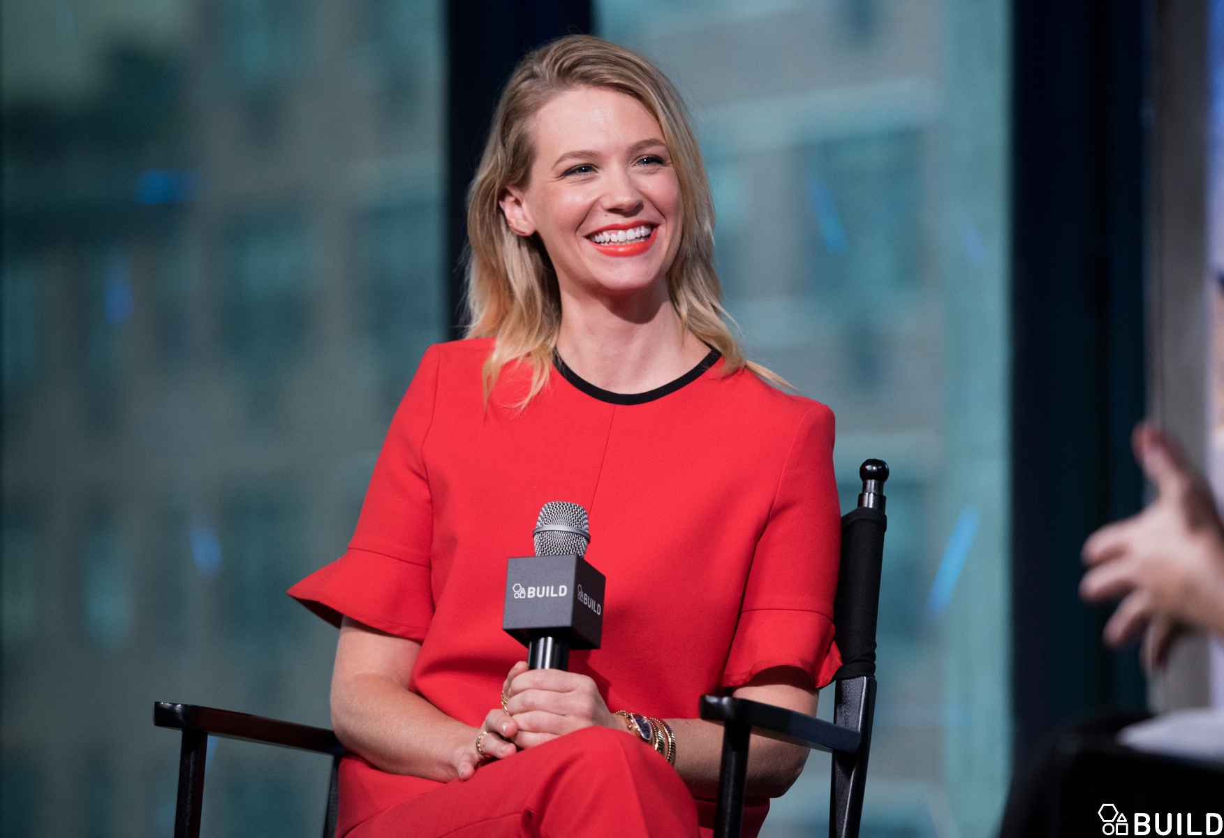 January Jones visits AOL Hq for Build on September 28 2016 in New York. Photos by Noam Galai