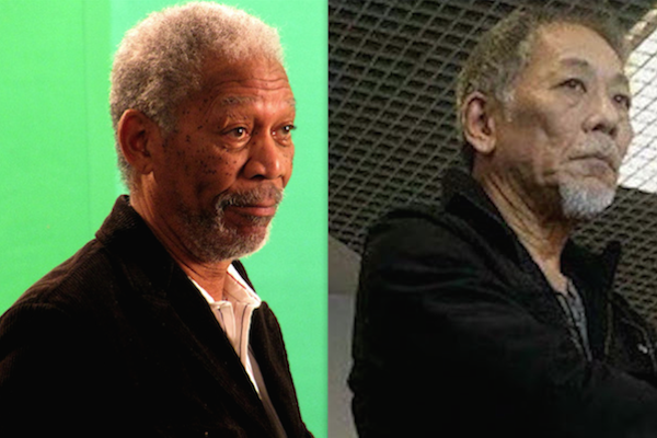 Celebrity lookalikes of different races asian morgan freeman