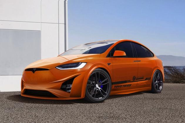 トーヨータイヤ、テスラ「モデルX」のカスタムカーをSEMAに出展