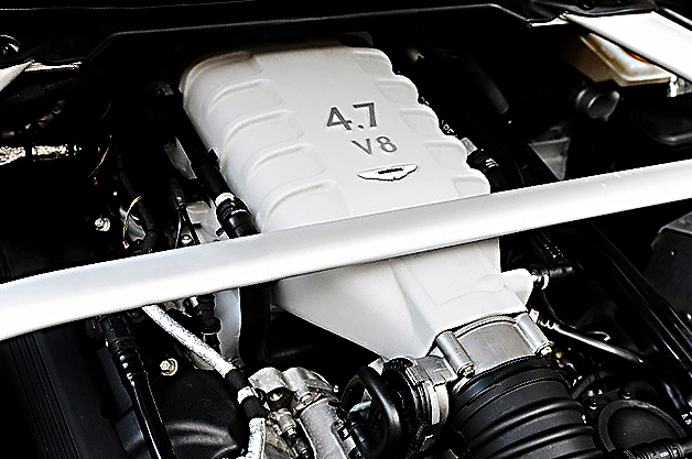The 4.7-liter V8 in an Aston Martin V8 Vantage