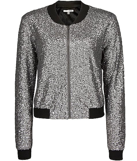 Buckle sequin jacket