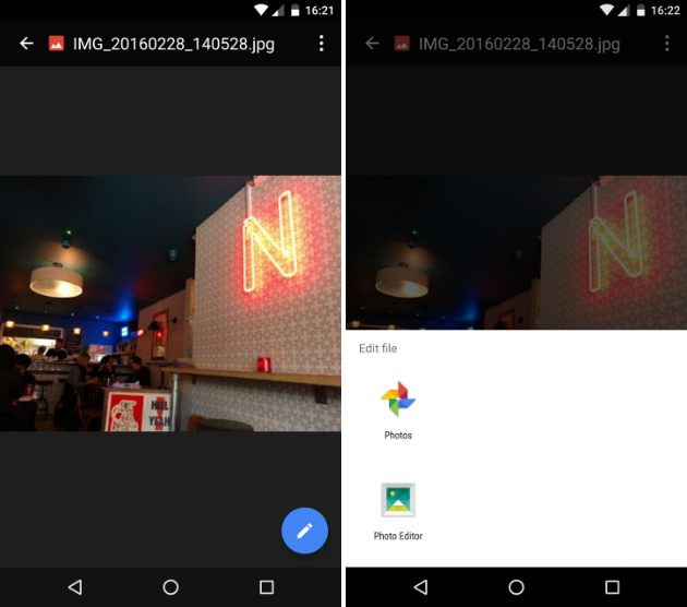 Google Drive for Android gets a file editing shortcut