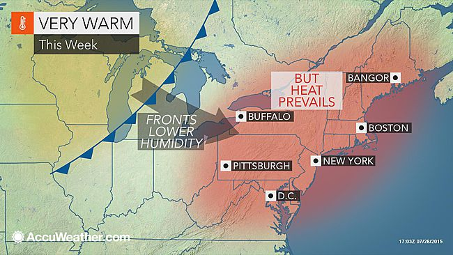 Will the dangerous heat building in Northeast last into August?