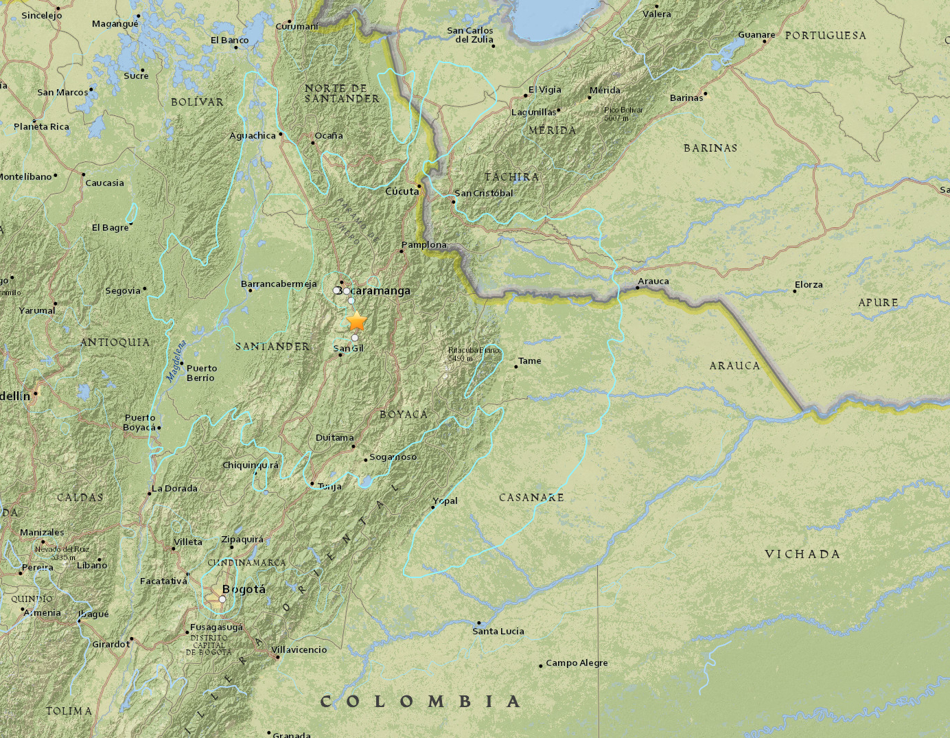 earthquake, Colombia