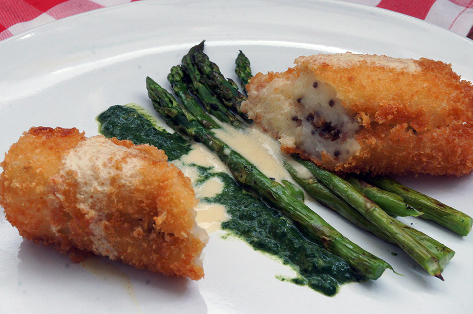 Cooking with Watson: Australian asparagus and pig's feet croquettes