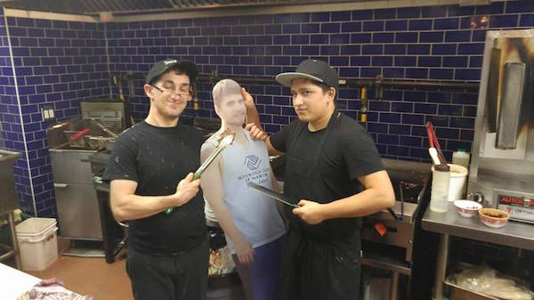 Friends Take Cardboard Cutout Of Buddy To Birthday Trip After His Finance Refuses To Let Him Go