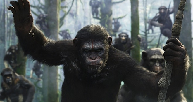 dawn+of+the+planet+of+the+apes+still+2 Weekend Box Office: Planet of the Apes Rides Off With No. 1 Spot, Big Opening Weekend