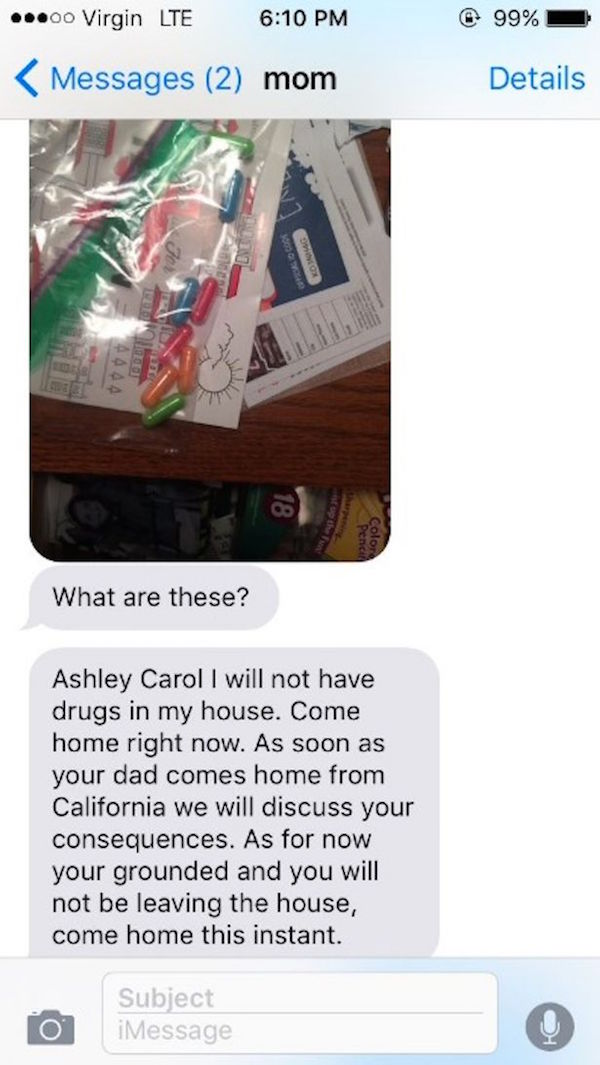 Mom Grounds Daughter After Finding 'Drugs' Only To Find Out Hilarious Truth