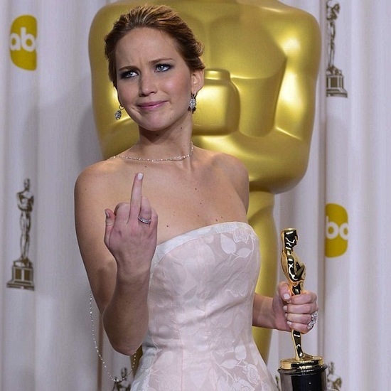celebs flipping the bird, funny middle fingers