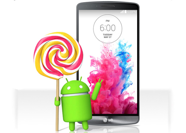 LG G3 with an Android Lollipop