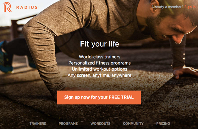 Radius combines fitness TV shows with custom workouts for your iPhone