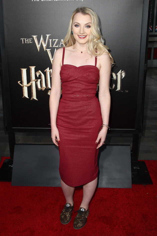 "UNIVERSAL CITY, CALIFORNIA - APRIL 05:  Actress Evanna Lynch attends the Universal Studios Hollywood Hosts The Opening Of ""The Wizarding World Of Harry Potter"" at Universal Studios Hollywood on April 5, 2016 in Universal City, California.  (Photo by Tommaso Boddi/WireImage)"