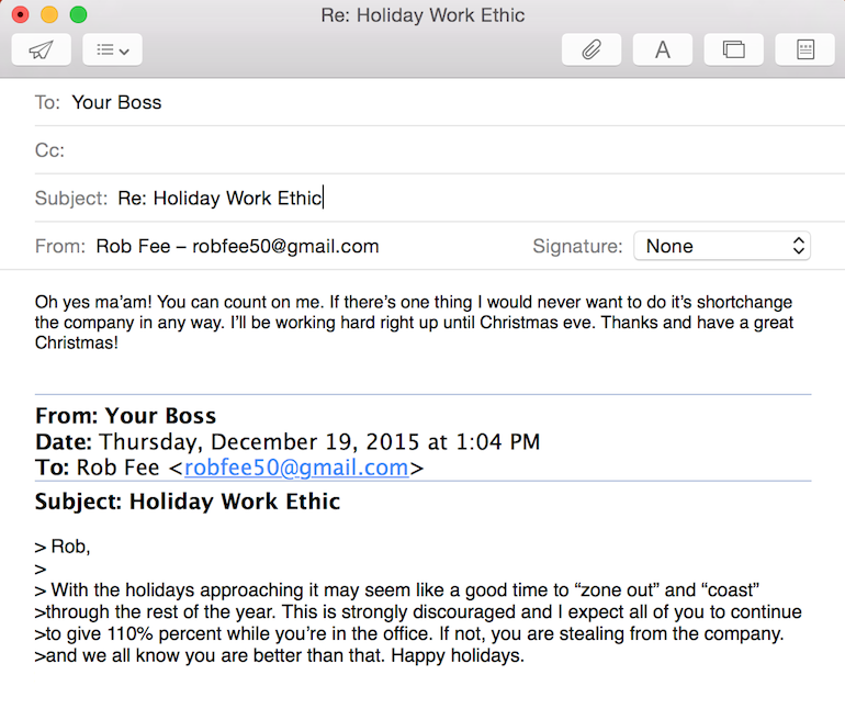 dumb emails from your boss, how you wish you could reply to work emails