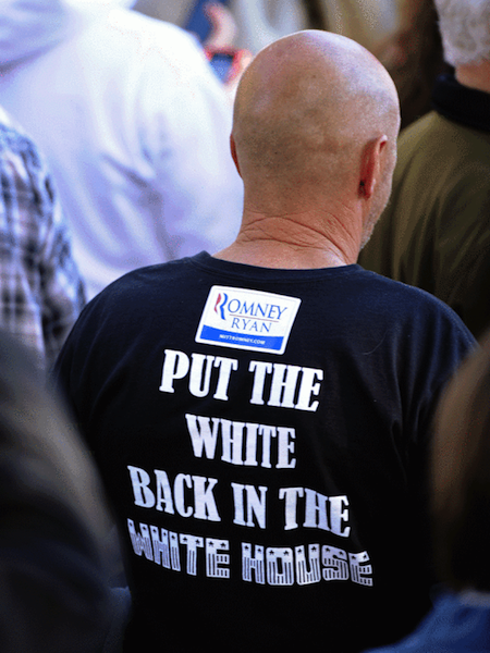 racist republican shirts, most racist republican t-shirts, put the white back in the white house romney shirt