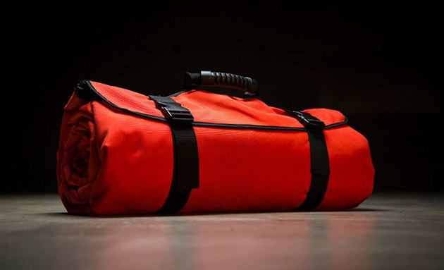 This anti-tornado sleeping bag protects you from flying debris
