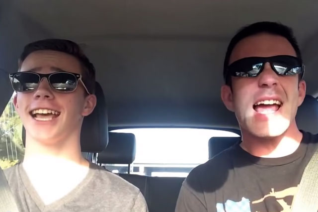 father son taylor swift lip sync