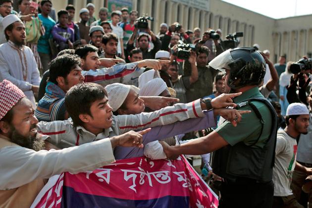 Bangladeshi protesters