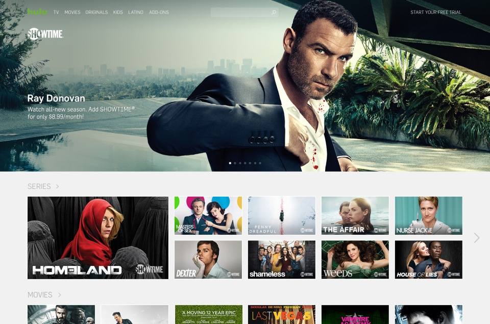 Hulu hooks up with Showtime to make internet TV more like cable