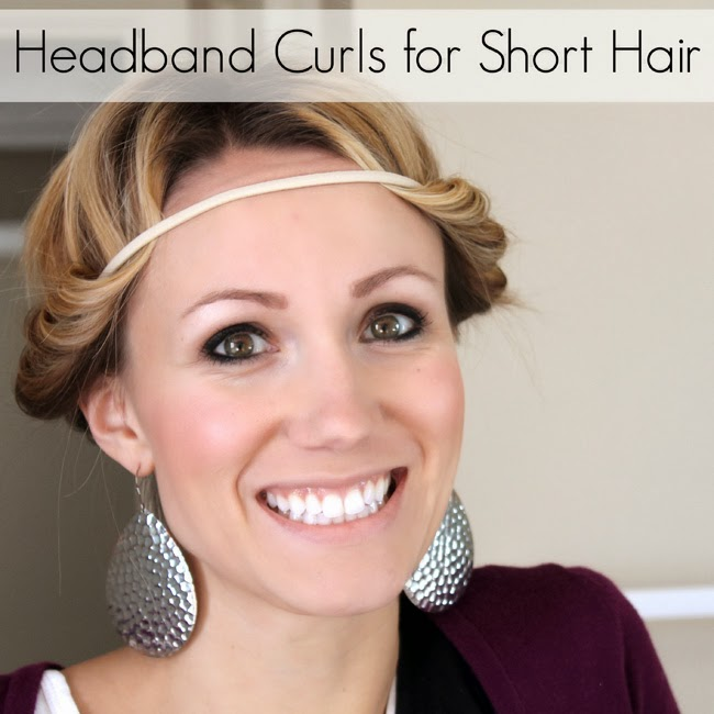 headband curls tutorial for short hair