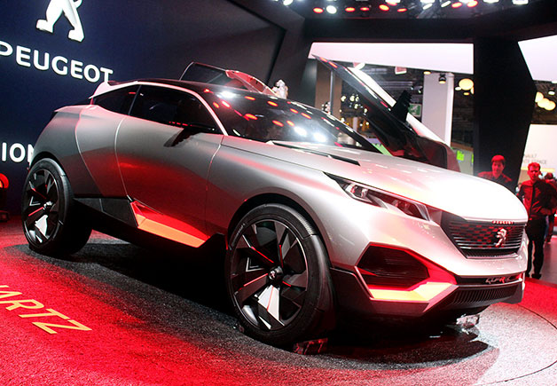 【ParisMotorShow2014】岩のような外観に500hpのパワー! プジョーのハイブリッドコンセプトカー