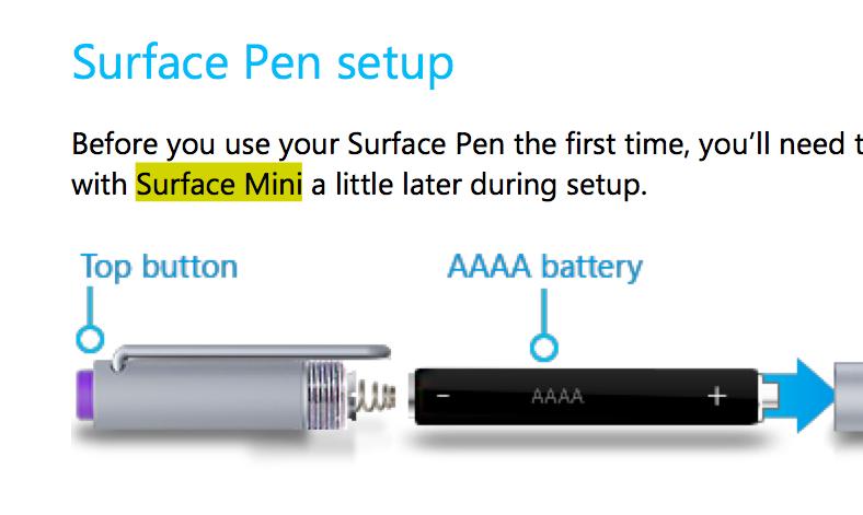 Microsoft menciona el Surface Mini en el manual de Surface Pro 3