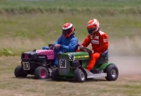 Kimi on a mower