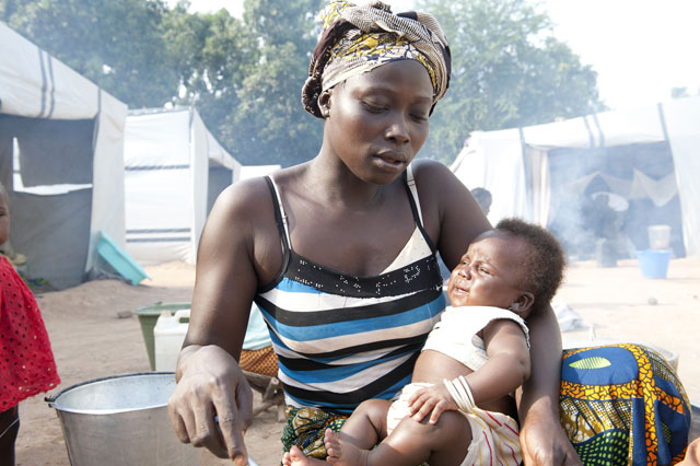mum gave birth on a runway in Central African Republic