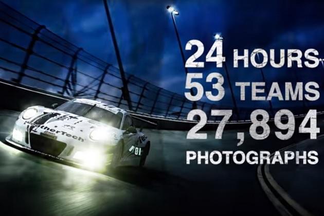 【ビデオ】2万7,894枚の写真をつなぎ合わせた、デイトナ24時間レースの映像!