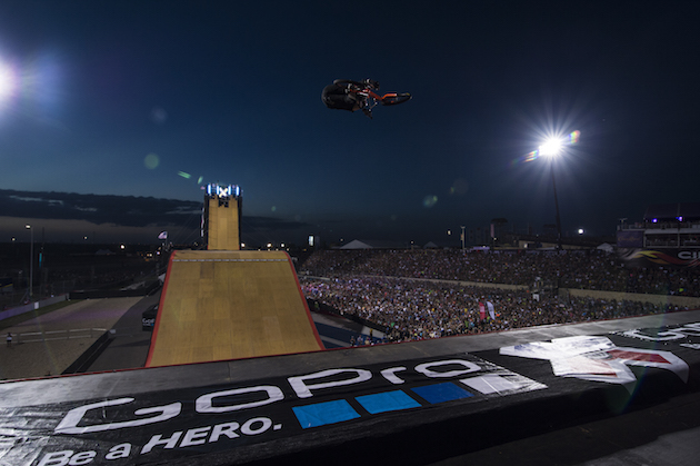 Austin, TX - June 7, 2014 - Circuit of The Americas: Go Pro Big Air signage during X Games Austin 2014(Photo by Kaitlyn Egan / ESPN Images)