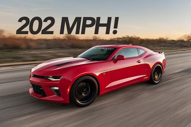 【ビデオ】ヘネシー社がチューニングしたシボレー「カマロSS」が、325km/hの速度を達成!