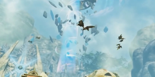 Dragons absolutely love rocks suspended by magical beams.  It's like a moth to a flame.