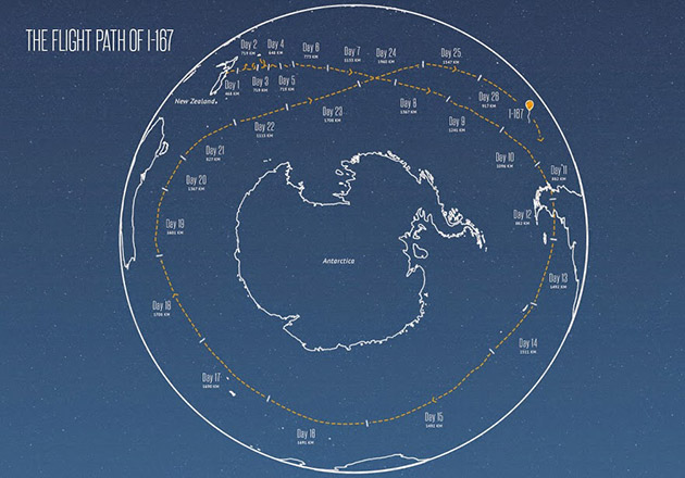 Google's Project Loon balloon goes around the world in just 22 days