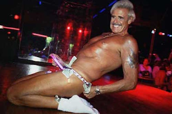world records of idiocy, bernie barker oldest male stripper