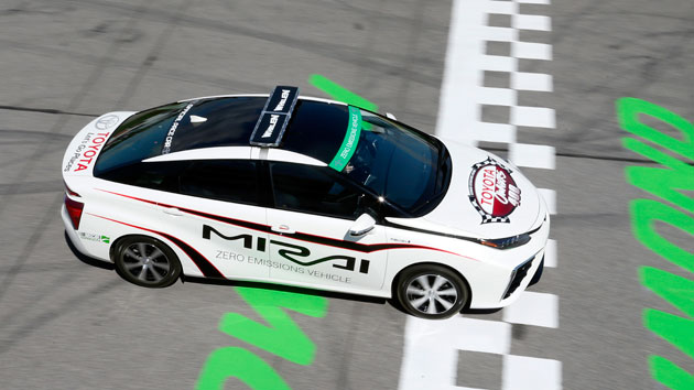 NASCAR's first hydrogen-powered pace car hits the track