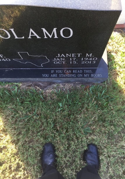 funny standing on my boobs tombstone