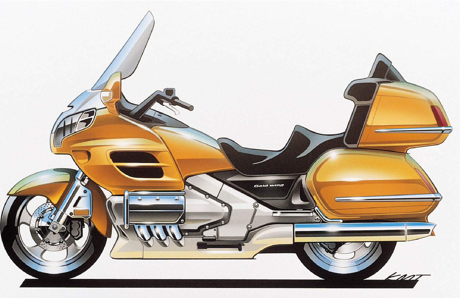 2001 Honda Gold Wing final sketch.