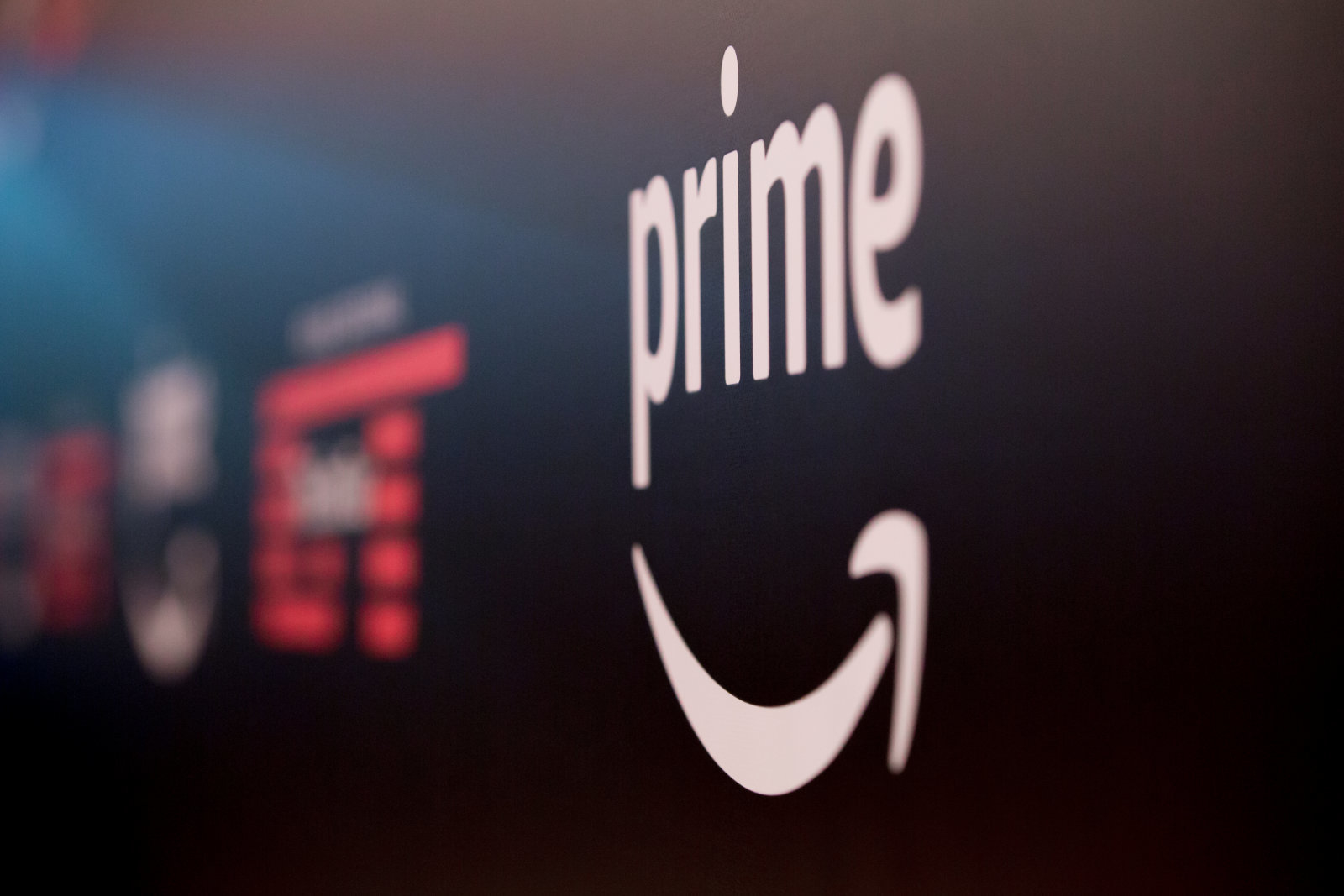 ESSEN, GERMANY - DECEMBER 07: The Amazon Prime Video logo stands at the entrance to the season 2 premiere of 'The Grand Tour' at Grugahalle on December 7, 2017 in Essen, Germany. (Photo by Ant Palmer/Getty Images)