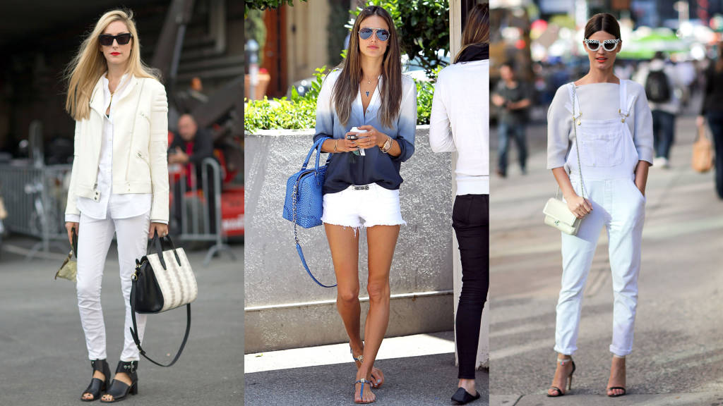 10 ways to wear white denim