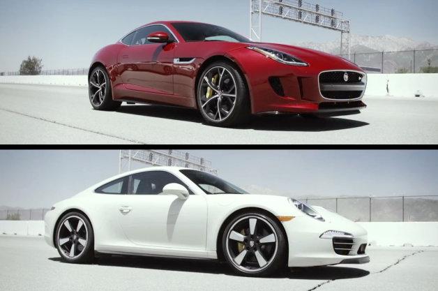 【ビデオ】ポルシェ「911 50thエディション」とジャガー「FタイプRクーペ」を比較!