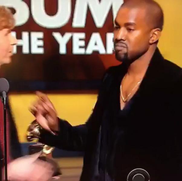 カニエ・ウェストがグラミー賞で乱入ネタ、スベって痛いヤツぶりを発揮www 【動画】