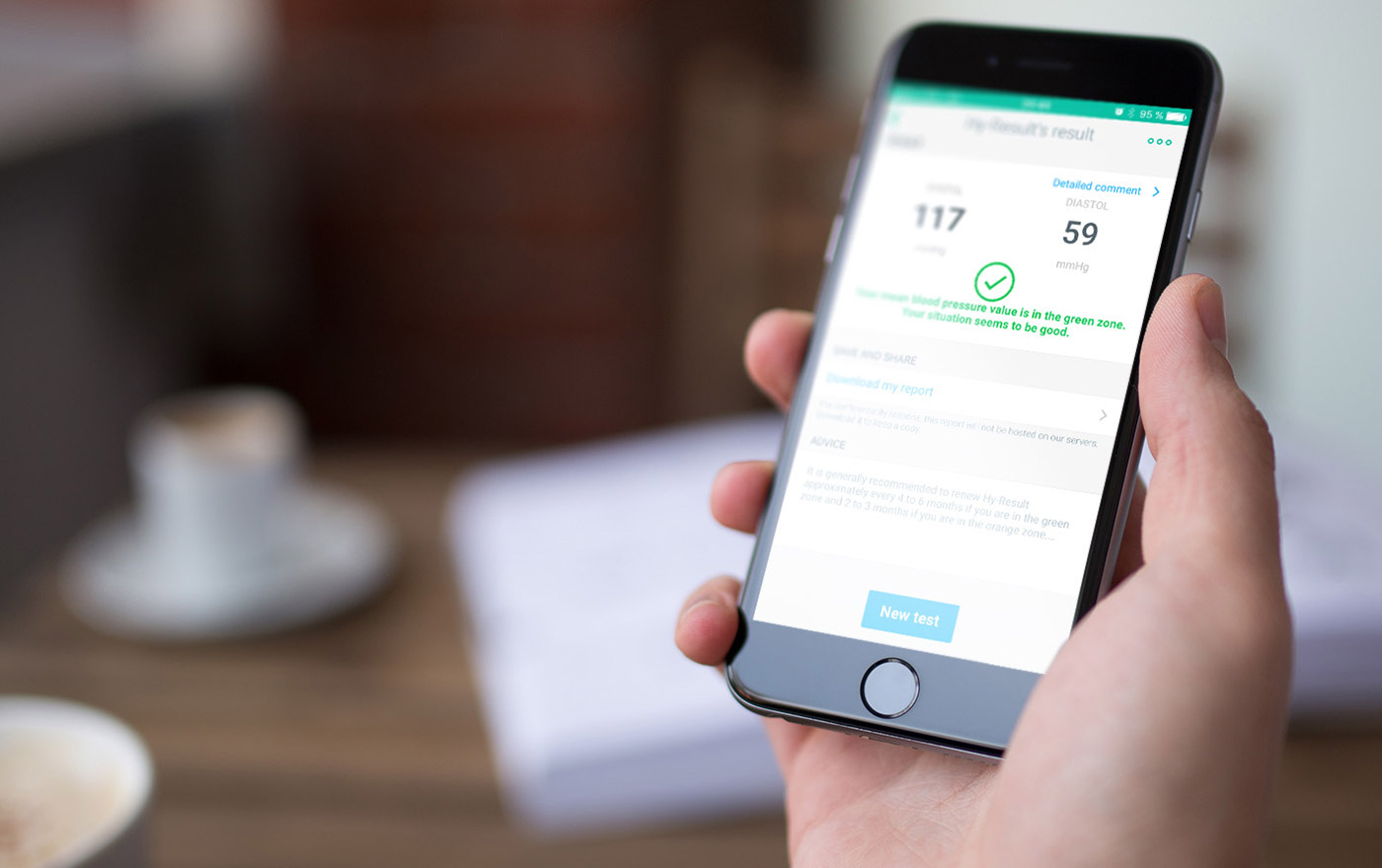 Withings Hy-result analyzes your blood pressure