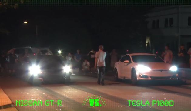 【ビデオ】テスラ「モデルS P100D」が、深夜の路上ドラッグ・レースで改造「マスタング」や「GT-R」に圧勝!