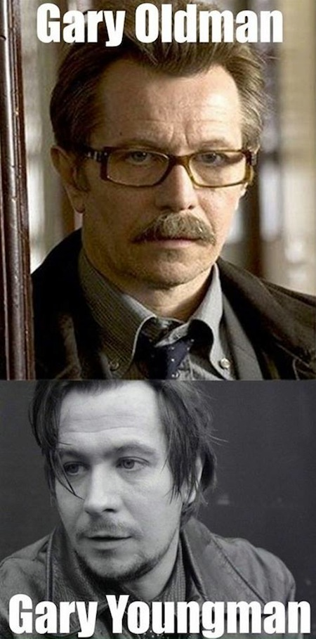 celebrity name puns, celebrity opposite names, gary oldman youngman
