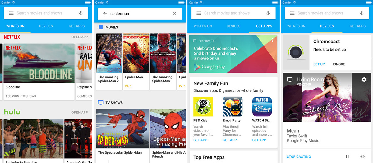 Chromecast app for iOS gets content and app recommendations